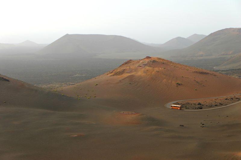bus in dunes Timanfaya