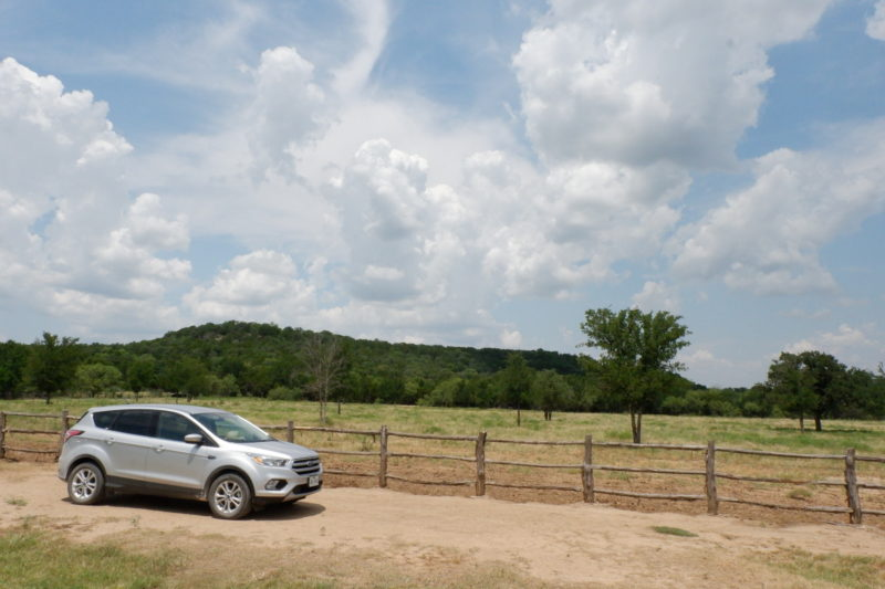 car at Wildcatter Ranch