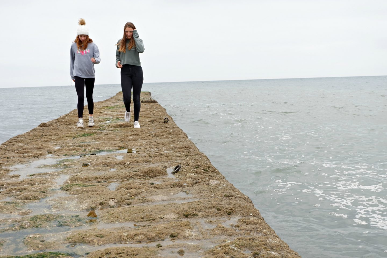 Girls on pier at Dawlish - Jenography