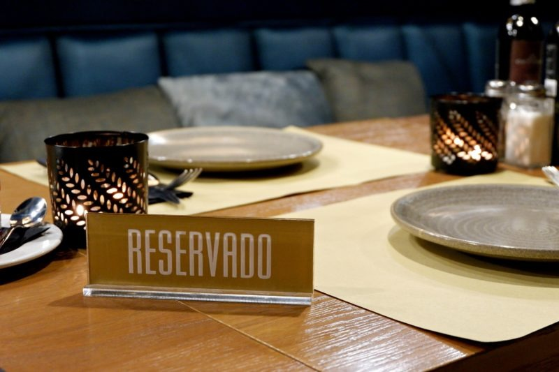 reserved sign at Star City Coffee & Gastro Bar