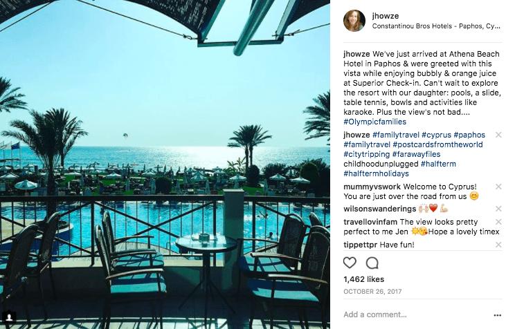 Jenography at Athena Beach Hotel Cyprus