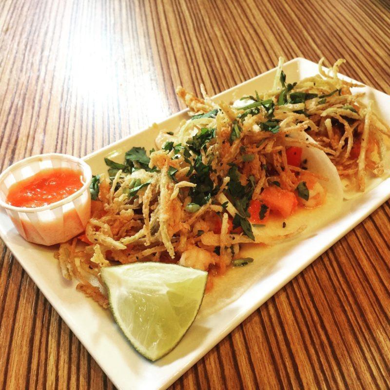 Jicama shrimp taco Acenar San Antonio
