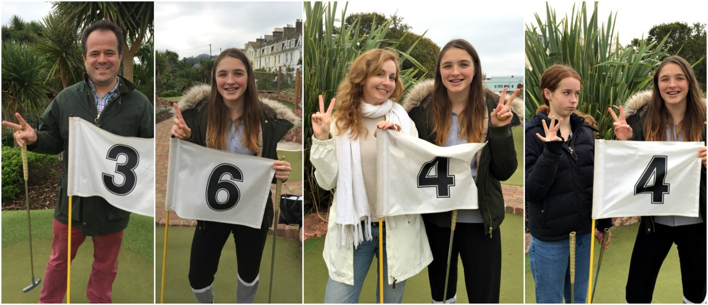 Teignmouth mini-golf celebrating - Jenography