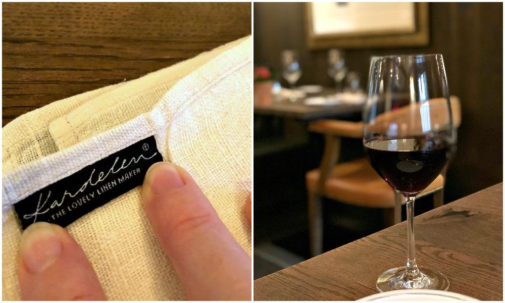 wine glass and napkin Hurley House Hotel - Jenography